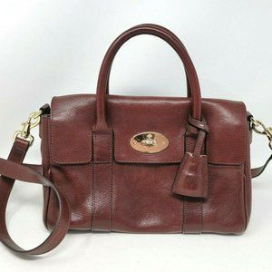 Auth Mulberry Bayswater Leather Small Crossbody